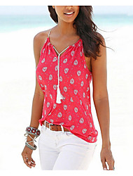 cheap -Women's Tank Top - Floral Strap
