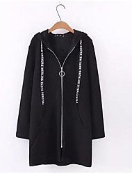 cheap -Women's Long Sleeves Hoodie - Solid