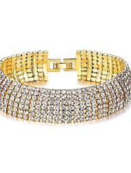 cheap -Women's Synthetic Diamond Imitation Diamond Bracelet - Classic Fashion Circle Gold Bracelet For Party Gift