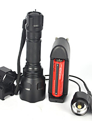 cheap -LED Flashlights / Torch / Handheld Flashlights / Torch LED 5000lm 1 Mode Anti-Shock / Wearproof / Easy Carrying Camping / Hiking / Caving