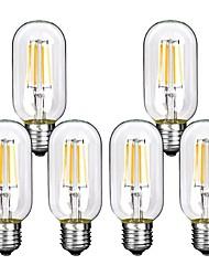 Недорогие -6шт 4W 360lm E26 / E27 LED лампы накаливания T45 4 Светодиодные бусины COB Декоративная Тёплый белый Холодный белый 220-240V