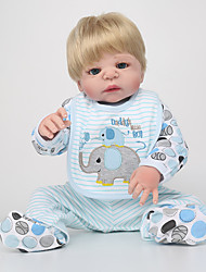 cheap -NPK DOLL Reborn Doll Baby Girl 22inch Full Body Silicone / Silicone / Vinyl - lifelike, Hand Applied Eyelashes, Tipped and Sealed Nails