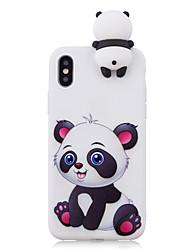 abordables -Funda Para Apple iPhone X iPhone 8 Antigolpes Diseños Manualidades Funda Trasera Oso Panda Dibujo 3D Caricatura Suave TPU para iPhone X