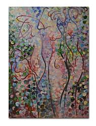 Недорогие -styledecor® современная ручная роспись абстрактной масляной живописи на холсте, настенная живопись-60 * 90 см, готовая повесить искусство
