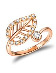 Недорогие -Жен. манжета кольцо Цирконий Розовое золото Розовое золото Циркон Классика Свадьба Для вечеринок Бижутерия Цветы Clover