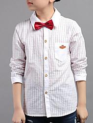 cheap -Boys' Daily Striped Shirt, Rayon Spring Fall Long Sleeves Casual White