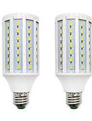 Недорогие -BRELONG® 2pcs 18W 1200lm E14 E26 / E27 B22 LED лампы типа Корн 84 Светодиодные бусины SMD 5730 Тёплый белый Белый 220-240V