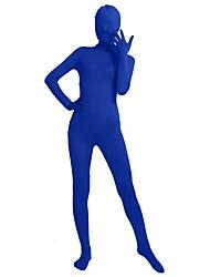 preiswerte -Zentai Anzüge Mode Zentai Kostüme Cosplay Kostüme Grün Königliches Blau Orange Marineblau Gelb Solide Modisch Zentai Kostüme Lycra® Herrn