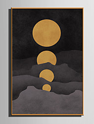 abordables -Personnage Bande dessinée Illustration Art mural, Plastique Matériel Avec Cadre For Décoration d'intérieur Cadre Art Salle de séjour