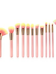 cheap -11pcs Makeup Brushes Professional Makeup Brush Set / Blush Brush / Lip Brush Nylon / Nylon Brush Soft / Full Coverage / Comfy Bamboo /