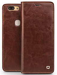 cheap -Case For Huawei Honor V9 Play Honor V9 Card Holder Shockproof Flip Full Body Cases Solid Color Hard Genuine Leather for Huawei Honor V8