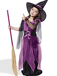 cheap -Witch Cosplay Costume Kid's Halloween Festival / Holiday Halloween Costumes Fashion