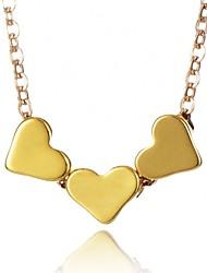 Недорогие -Жен. Ожерелья с подвесками ожерелье троицы Сердце Мода Золотой Серебряный Ожерелье Бижутерия Назначение Повседневные Офис и карьера