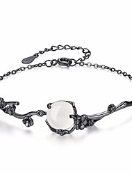 cheap -Women's Jade Flower Chain Bracelet - Fashion Black Bracelet For Daily Formal