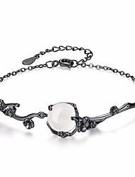 cheap -Women's Jade Chain Bracelet - Flower Fashion Bracelet Black For Daily / Formal