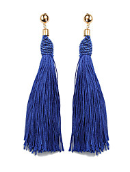 cheap -Women's Tassel Drop Earrings - Ethnic, Fashion Red / Light Coffee / Royal Blue For Prom / Going out