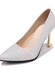 preiswerte -Damen Schuhe maßgeschneiderte Werkstoffe Frühling Sommer Pumps Komfort High Heels Stöckelabsatz Geschlossene Spitze Spitze Zehe Schnalle