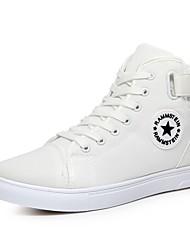 Недорогие -Муж. обувь Полотно Весна Осень Удобная обувь Кеды для Повседневные на открытом воздухе Белый Черный Синий