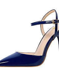 preiswerte -Damen Schuhe PU Frühling Sommer Knöchelriemen Pumps Fersenriemen Sandalen Stöckelabsatz Geschlossene Spitze Spitze Zehe für Büro &