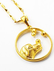 cheap -Women's Pendant Necklace - Gold Plated Dog, Animal Gold Necklace For Gift, Daily