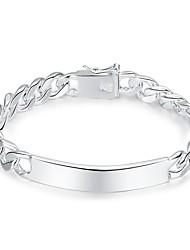 cheap -Men's 1pc Chain Bracelet - Fashion Geometric Silver Bracelet For Gift Daily