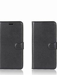 Недорогие -Кейс для Назначение Xiaomi Redmi 5A Mi Mix Бумажник для карт Кошелек со стендом Флип Чехол Сплошной цвет Твердый Кожа PU для Redmi Note