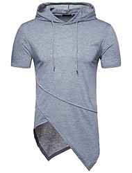 cheap -Men's Sports Active Basic Cotton T-shirt - Solid Colored Round Neck