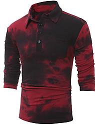 Недорогие -Муж. Polo Рубашечный воротник Тонкие Классический Контрастных цветов