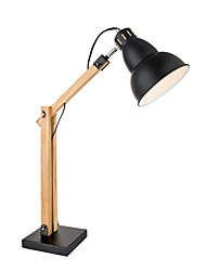 cheap -Artistic Adjustable Table Lamp For Wood/Bamboo AC100-240V Black