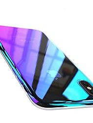Недорогие -Кейс для Назначение Apple iPhone X iPhone 8 Plus Покрытие Кейс на заднюю панель Градиент цвета Твердый ПК для iPhone X iPhone 8 Pluss