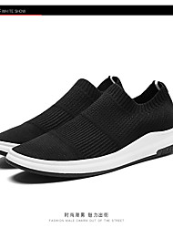 cheap -Women's Shoes Breathable Mesh Spring Fall Comfort Athletic Shoes Running Shoes Flat Heel Round Toe for Athletic Casual Black Gray Red