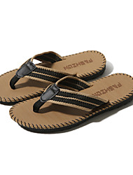 cheap -Men's Shoes Fabric Summer Espadrilles Slippers & Flip-Flops for Casual Outdoor Black Brown