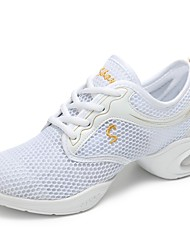abordables -Femme Baskets de Danse Filet Basket Intérieur / De plein air Talon Plat Personnalisables Chaussures de danse Blanc / Noir / Pêche