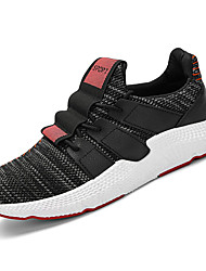 cheap -Men's Rubber Spring Comfort Athletic Shoes White / Black / White / Black / Red