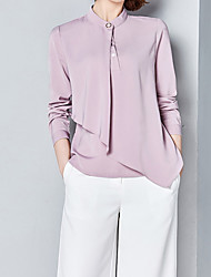 cheap -Women's Holiday Blouse - Solid Colored Stand