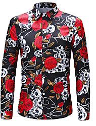 abordables -Chemise Grandes Tailles Homme, Fleur Géométrique Sexy