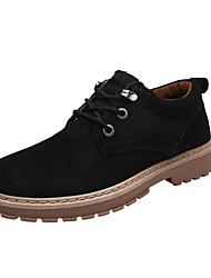 baratos -Homens sapatos Courino Primavera Outono Conforto Tênis para Casual Preto Amarelo Khaki