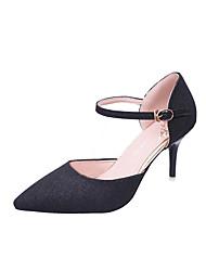 abordables -Mujer Zapatos PU Verano Confort Sandalias Tacón Cuña Puntera abierta Flor para Casual Negro Plata Dorado