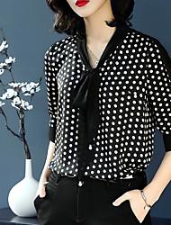 economico -Blusa Per donna Vintage Moda città A pois