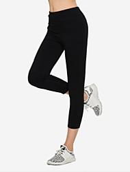 baratos -calças de chinos inelásticas normais de meia altura das mulheres, queda de primavera de poliéster sólida simples