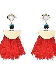 abordables -Femme Gland / Bohème / Coloré Cristal Boucles d'oreille goutte - Gland / Bohème / Coloré Fuchsia / Rouge / Bleu Forme de Ligne Des