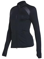 cheap -Women's Running Jacket - Black Sports Sweatshirt Yoga, Fitness, Gym Long Sleeve Activewear Quick Dry Inelastic