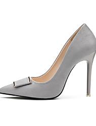 preiswerte -Damen Schuhe Stoff Frühling Herbst Pumps High Heels Stöckelabsatz Spitze Zehe für Büro & Karriere Party & Festivität Schwarz Grau Rot