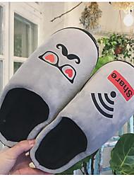 cheap -Men's Flocking Fall / Winter Comfort Slippers & Flip-Flops White / Black