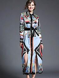 女性用 シース ドレス - プリント, 幾何学模様