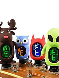 economico -Professionale Sintonizzare Tuner Chitarra Chitarra acustica Chitarra classica Ukulele Plastica Gel di Silice Carino Livello professionale