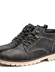Недорогие -Муж. обувь Свиная кожа Весна Осень Армейские ботинки Ботинки Ботинки для Повседневные Черный Серый Хаки