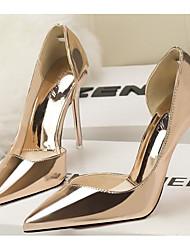 economico -Per donna Scarpe PU (Poliuretano) Vernice Primavera Autunno Decolleté Comoda Tacchi A stiletto per Casual Oro Nero Argento