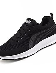 economico -Per uomo Scarpe Maglia traspirante Primavera Autunno Comoda scarpe da ginnastica Footing per Sportivo Nero Nero/Rosso