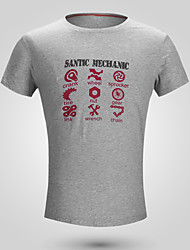 baratos -SANTIC Homens Manga Curta Camisa para Ciclismo - Branco / Verde Tropa / Cinzento Moto